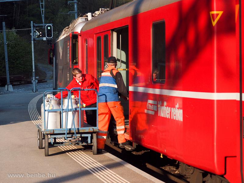 Tejrakodás Reichenau-Tamins állomáson fotó