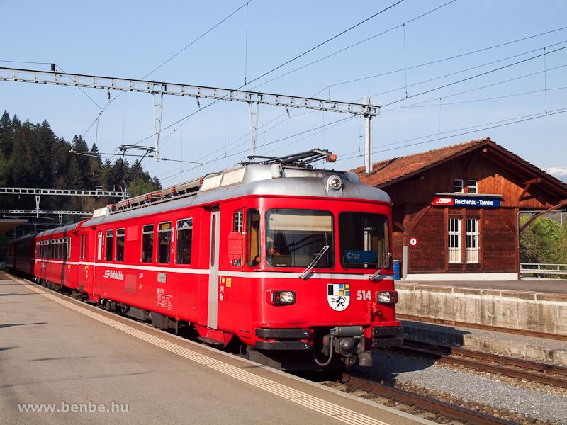 A Be 4/4 514 Reichenau-Taminsban fotó
