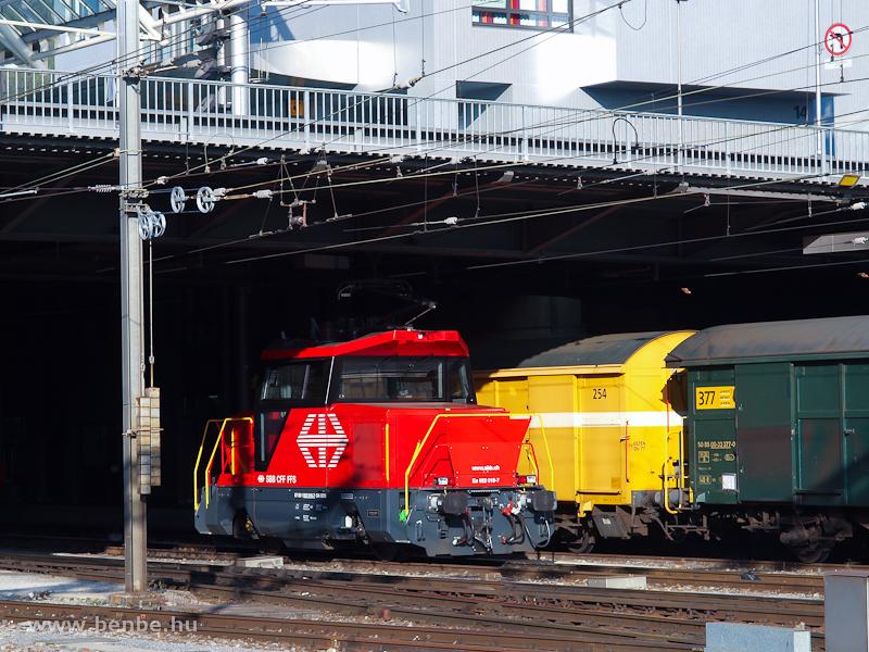 Az SBB Ee 922 018-7 pályaszámú kis Stadler tolatómozdony Chur állomáson fotó