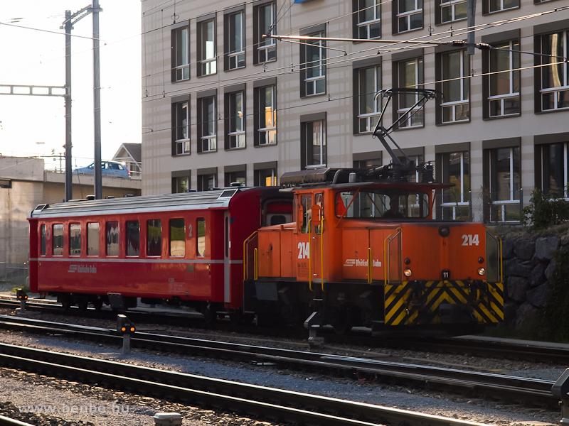 Az RhB Ge 3/3 214 Chur állomáson fotó