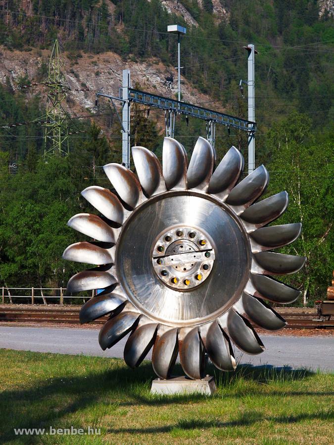 Egy Pelton-kerék Rothenbrunnennél fotó