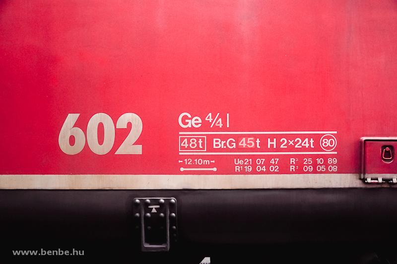 Az RhB Ge 4/4 I  602 súlytáblázata fotó