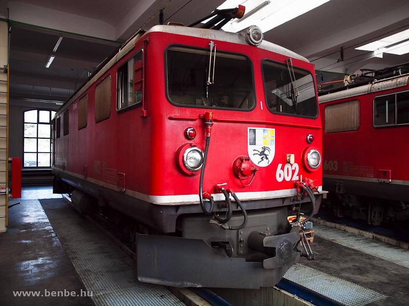 Az RhB Ge 4/4 I  602 Landquartban fotó