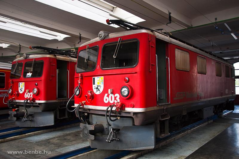 A Ge 4/4 I  602 és Ge 4/4 I  603 Landquartban fotó