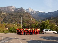 The track maintenance crew is gathering at Reichenau-Tamins