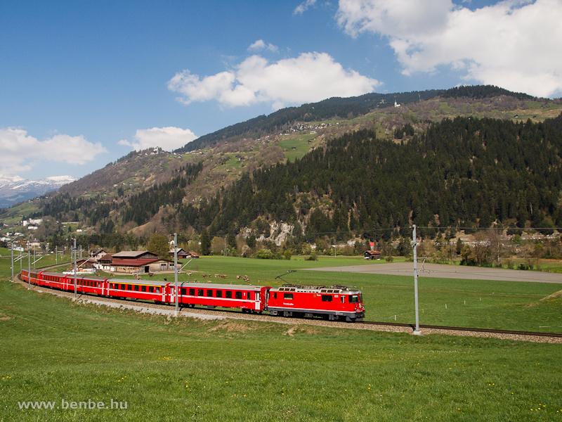 Az RhB Ge 4/4 II  612 Ilanz és Castrisch között fotó