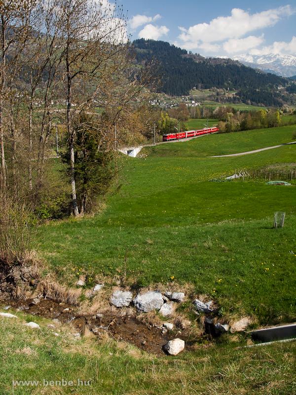 Az RhB Ge 4/4 II  614 Castrisch és Ilanz között fotó