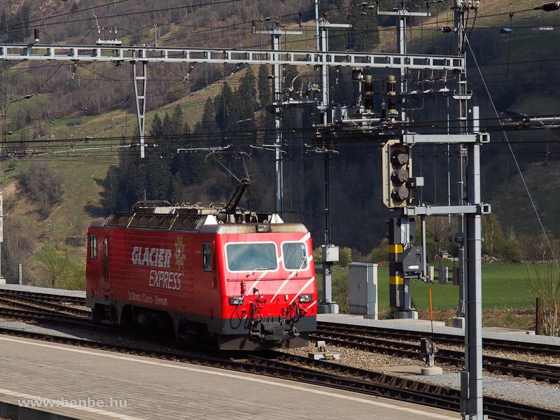 Az MGB HGe 4/4 II  106  St. Gotthard / S. Gottardo  Disentis/Mustér állomáson pihen fotó