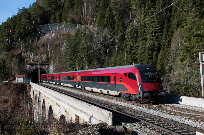 The ÖBB railjet driving tra photo