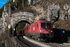 Az ÖBB 1016 007 Wolfsbergkogel és Breitenstein között a Kleines Krausel Tunnel után