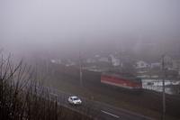 Az ÖBB 1142 698 Spital am Semmering és Mürzzuschlag között egy tehervonat tológépeként