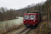 A Steyrtalbahn VT 95 pályaszámú vágánygépkocsi Pergern és Neuzeug között