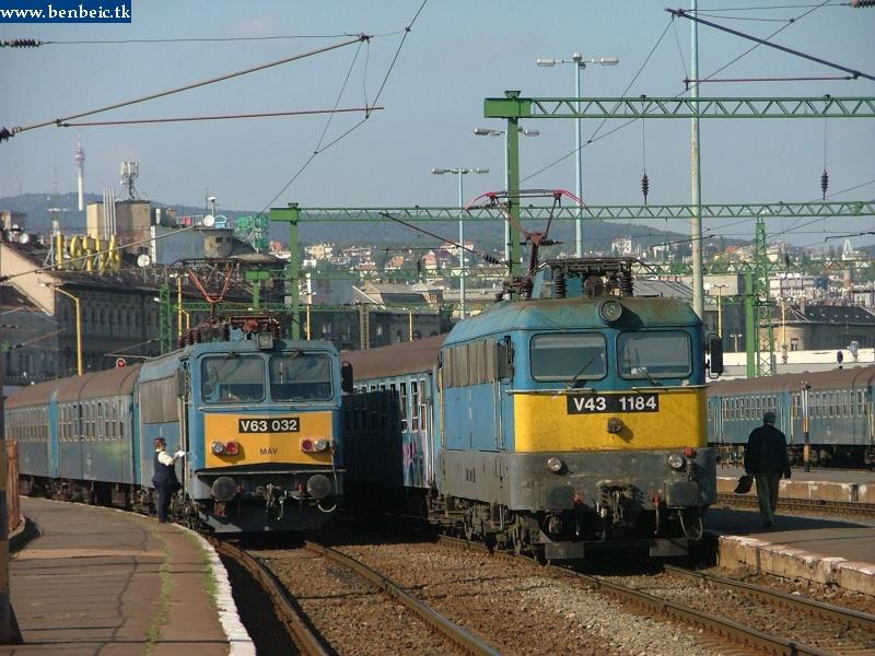 V43 1184 és V63 032 a Déli pályaudvaron fotó