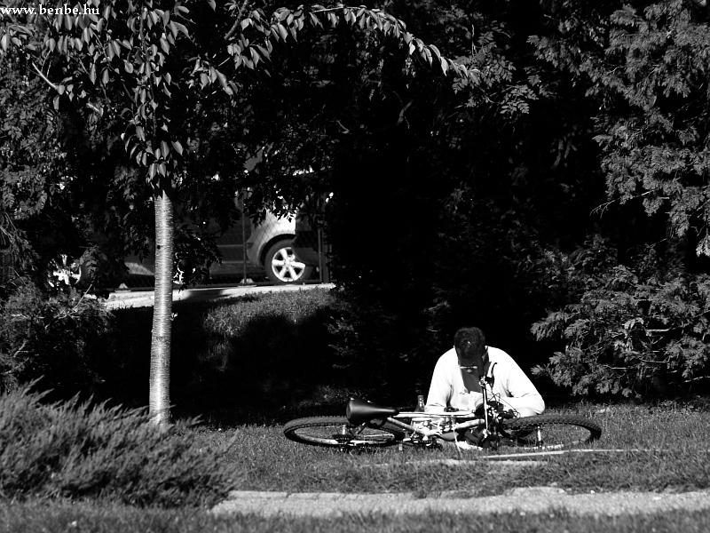 Biciklista fotó