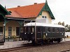 A MÁV Nosztalgia kft. - Szentendrei Szabadtéri Néprajzi Múzeum BCmot 422 Skanzen főbejárat állomáson
