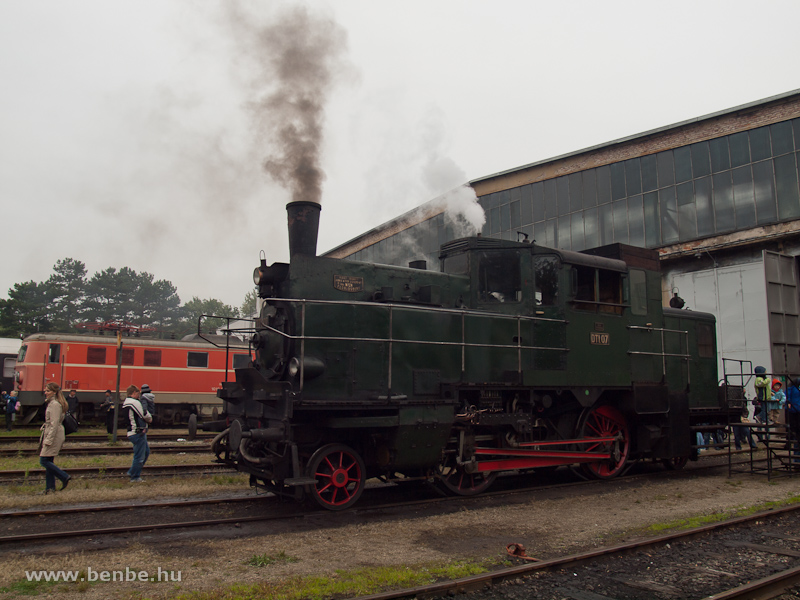 Az ÖBB DTI 07 pályaszámú poggyászmotorkocsi Strasshofban fotó