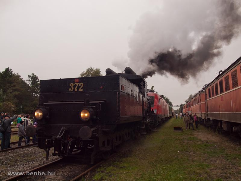 A 17c osztályú, 372 pályaszámú gőzmozdony Strasshofban fotó