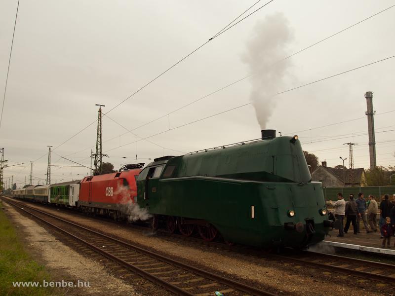 A MÁV 242,001 és az ÖBB 1116 011-4 Nagyszentjános állomáson fotó