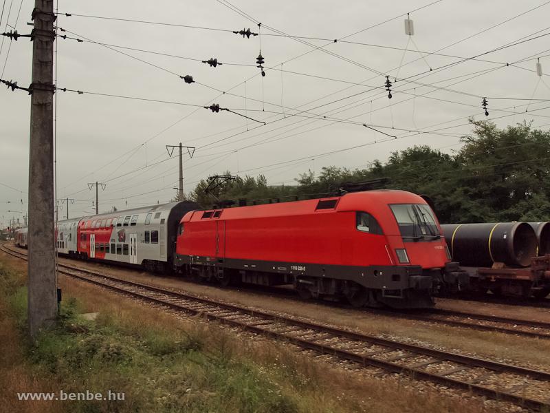 Az ÖBB 1116 238-5 logók nélkül Floridsdorfba, a Siemensstrasse S-Bahn megálló közelében fotó