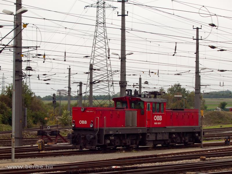 Az ÖBB 1063 031-7 tolatómozdonya Wien Zentralverschiebebahnhof Kledering rendezőpályaudvaron fotó