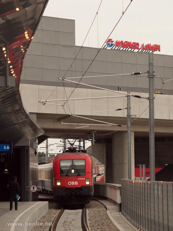 Az ÖBB 1116 011-6 érkezik a MÁV Nosztalgia kft. élményvonatával Stadlauba fotó