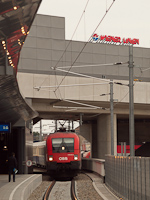The charter train of M�V Nosztalgia kft. is arriving at Wien Stadlau