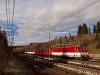 A Liptov tológépe, az egyenáramú 162 007-9, Csorba állomáson (Štrba, Szlovákia)