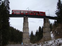 Bombardier tram in the Mutter tunnel of the Stubaitalbahn