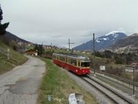 A tram arriving at Fulpmes