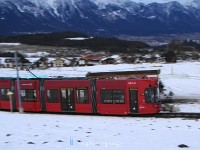 A Bombardier tram arriving at Nockhofweg stop