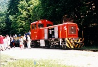 The Mk48-404 at Szalajka-Fátyolvízesés station