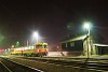 Trains passing by: Bzmot 217 at Nagyk�ll� at night