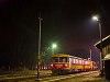Trains passing by: Bzmot 217 at Nagykálló at night