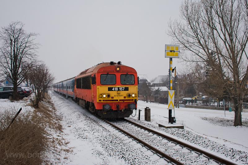 A MÁV-START 418 157 Gyál és fotó