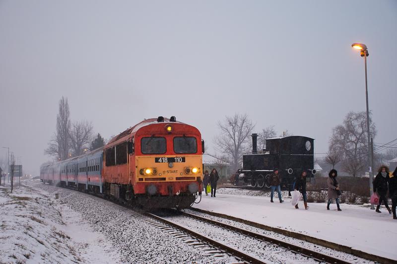 A MÁV-START 418 110 Gyál fe fotó