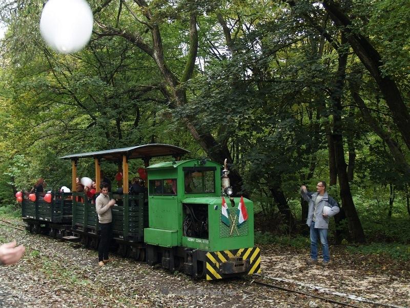 A Kemencei Erdei Múzeumvasút PN-3 mozdonya Feketevölgyben esküvői különvonattal fotó