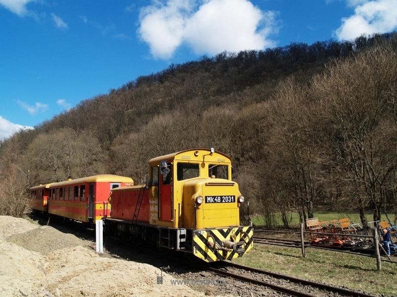 Mk48 2031 Királyréten az  Utolsó Színpompás Vonattal  a hajtánypálya mellett fotó
