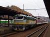 A ŽSSK 754 055-2 Zólyom állomáson