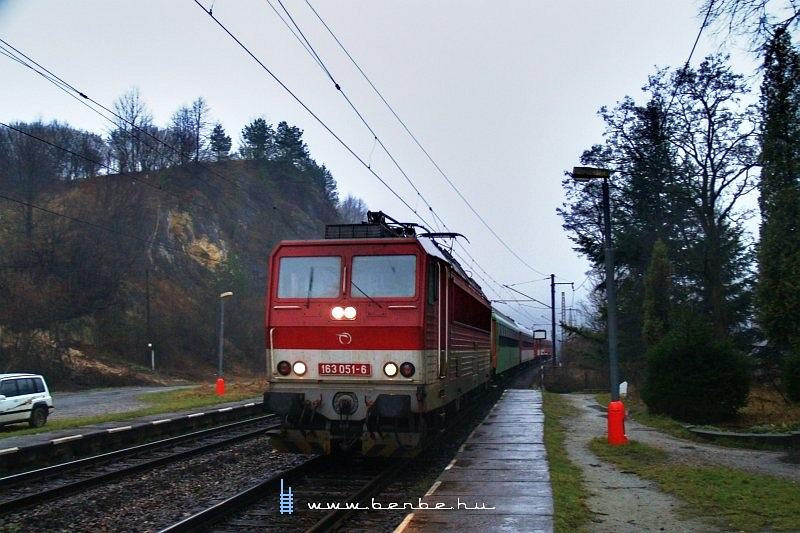 163 051-6 Sztrecsény (Strecno) megállóhelyen fotó