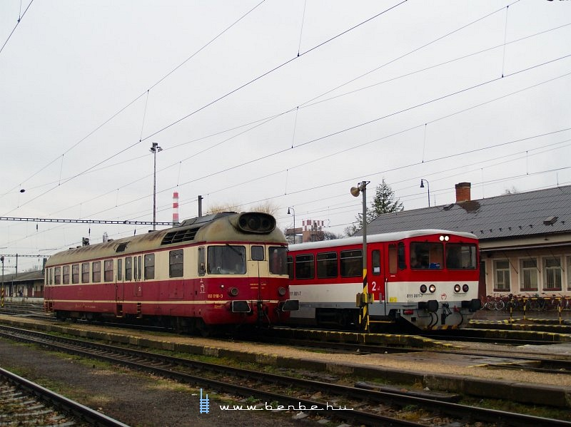 The 850 018-3 and 811 001-7 at Hõlak (Trencianska Teplá) station photo