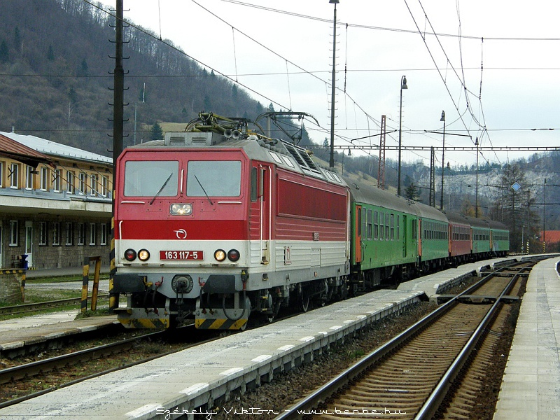 163 117-5 Vágkirályháza (Kralovany) állomáson fotó