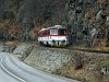 The 813 019-7 in the narrow valley of the Orava river