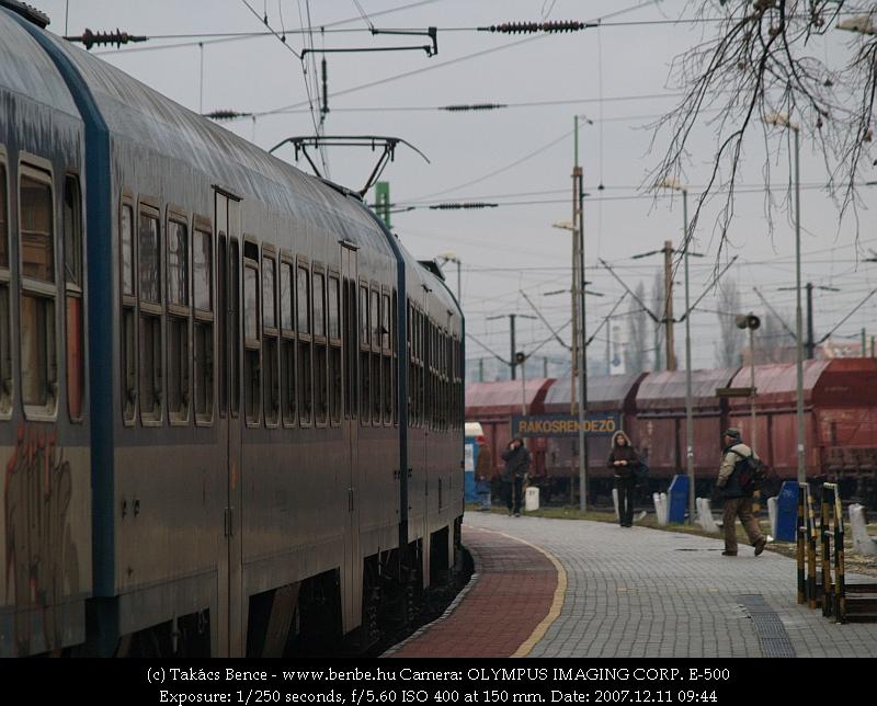 BDVmot 016 érkezik Rákosrendezõ állomásra fotó