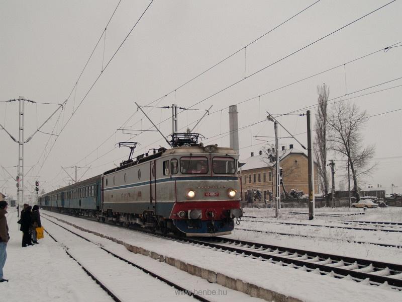 A CFR 40-0801-7 pályaszámú hattengelyes villanymozdonya Gyergyószentmiklós (Gheorghieni, Románia) állomáson fotó