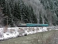 The CFR 40-0295-2 between Palotailva (Lunca Bradului, Romania) and Gődenyágra (Stanceni Neagra, Romania) in the Maros-gorge