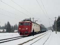The CFR 40-0752-2 at Marosfő (Izvoru Muresului) station
