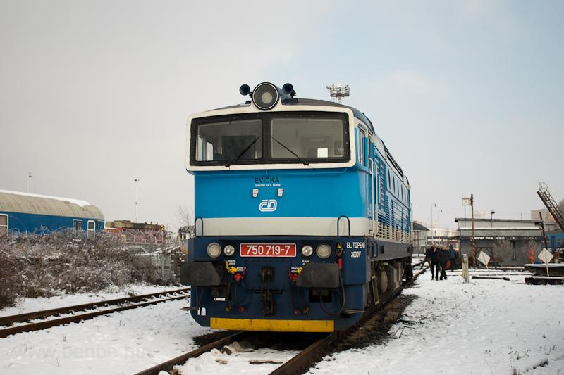 A ČD 750 719-7 Veselí nad Moravou állomáson fotó