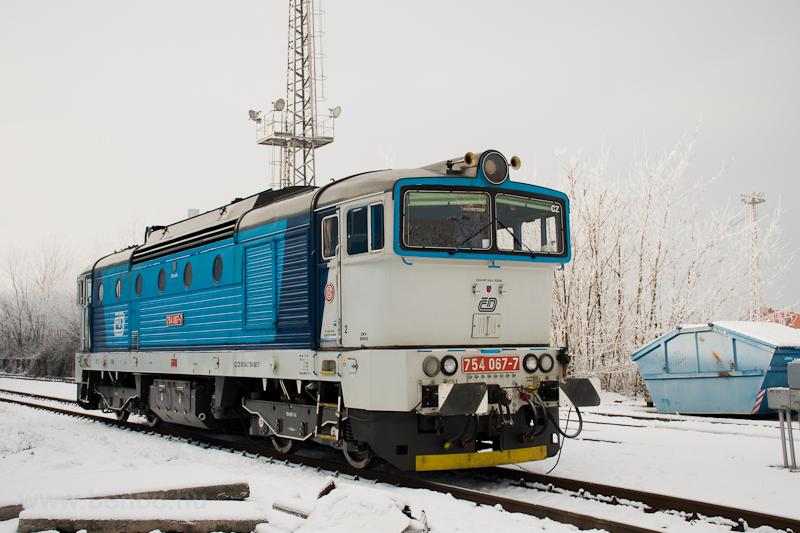 The ČD 754 067-7 seen  photo