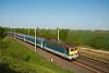 A MÁV-START 433 278 Iváncsa és Pusztaszabolcs között egy pécsi InterCity vonattal