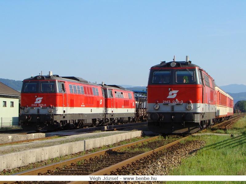 A 2143 029-3, a 2143 075-6 és a 2143 074-9 Spratzenben fotó